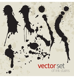 Ink stains set 6 vector image vector image