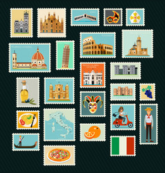 Italy travel stamps vector