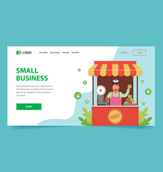 landing page how to open your small business vector image