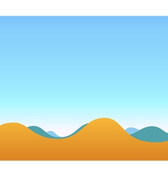 Landscape of Hills and blue sky vector