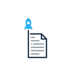 launch document logo icon design vector image