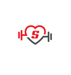 Love fit with letter s logo vector