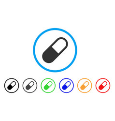 Medication granule rounded icon vector