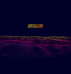 Music wave purple background abstract big data vector