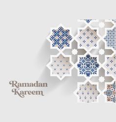 Muslim holiday ramadan kareem greeting card close vector