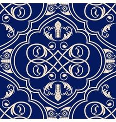 Ornamental seamless pattern Blue ethnic vector image