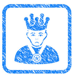 overlord boss framed stamp vector image