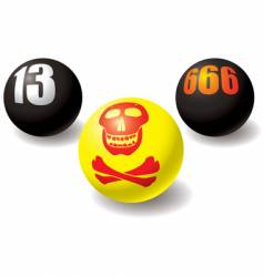 paranormal balls vector image