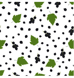 Pattern with black currant vector