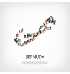 people map country Bermuda vector image