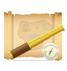 pirate treasure map 02 vector image