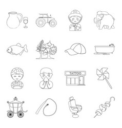 Profession service food and other web icon in vector