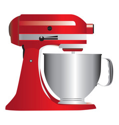 Red stand mixer vector