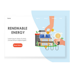 renewable energy website landing page vector image