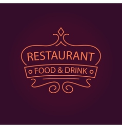 Restaurant logo vector