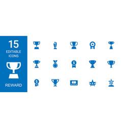 Reward icons vector