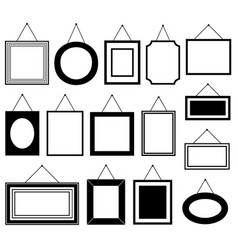 Set of different picture frames vector
