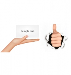 set with hands vector image