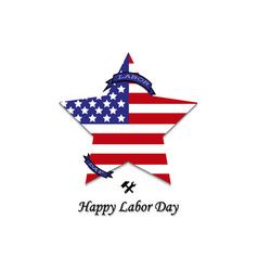 sign labor day on white background vector image