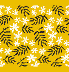 Simple tropical floral seamless pattern vector