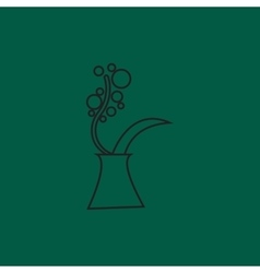 Spring flowers in vase bouquet flat vector image
