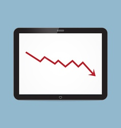 Stock crisis with tablet vector