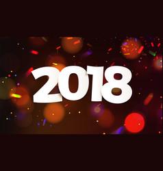 stock defocused happy new year vector image