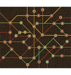 subway map vector image