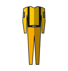 Suit safety uniform icon vector