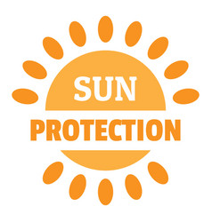 sun protection logo flat style vector image