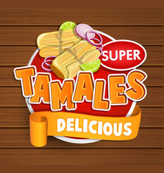 Tamales delicious logo symbol sticker vector