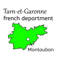 Tarn-et-Garonne french department map vector