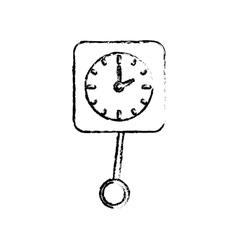 Time clock concept vector