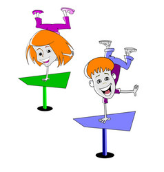 Two cartoon children vector