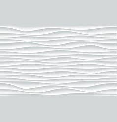 white wave pattern abstract 3d background vector image