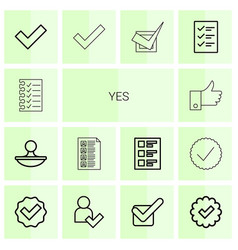 yes icons vector image