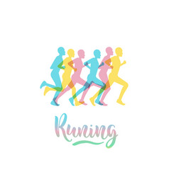 athletes runners vector image