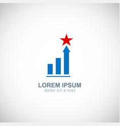 business finance chart star company logo vector image
