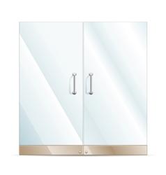 Glass door vector image vector image
