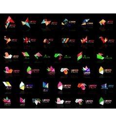 Grow up arrow origami abstract logo design vector image