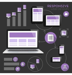 infographics for responsive design vector image vector image