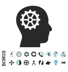 Intellect Flat Icon With Bonus vector image