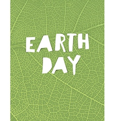 Nature background with Earth day headline Green vector image vector image