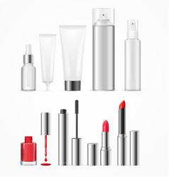 realistic beauty template bottles set vector image vector image