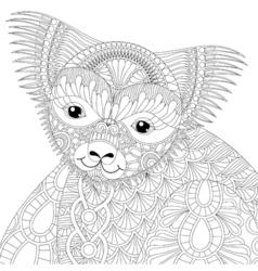 zentangle happy friendly koala for adult anti vector image vector image