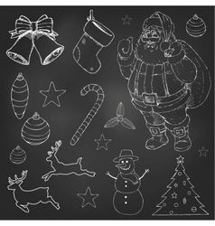 Christmas doodles set vector image vector image