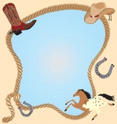 cowboy invitation poster vector image vector image