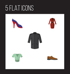 flat icon clothes set of uniform male footware vector image vector image