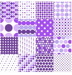 seamless retro dot pattern print vector image