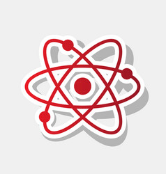 atom sign new year reddish vector image vector image
